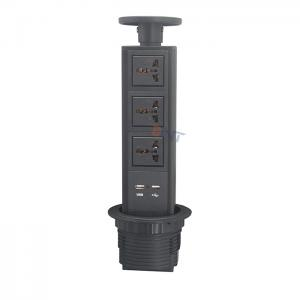 Black color pop up power kitchen socket BP111